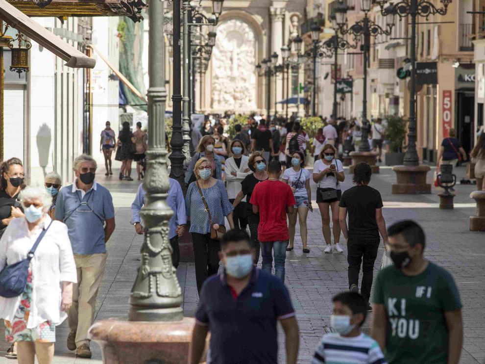 Ambiente en la calle Alfonso I de Zaragoza