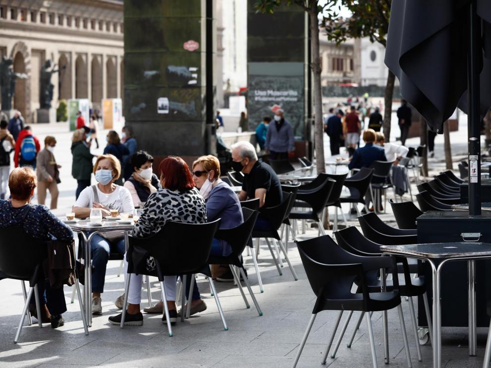 Las terrazas de Zaragoza, a medio gas tras las nuevas restricciones decretadas por el Gobierno de Aragón