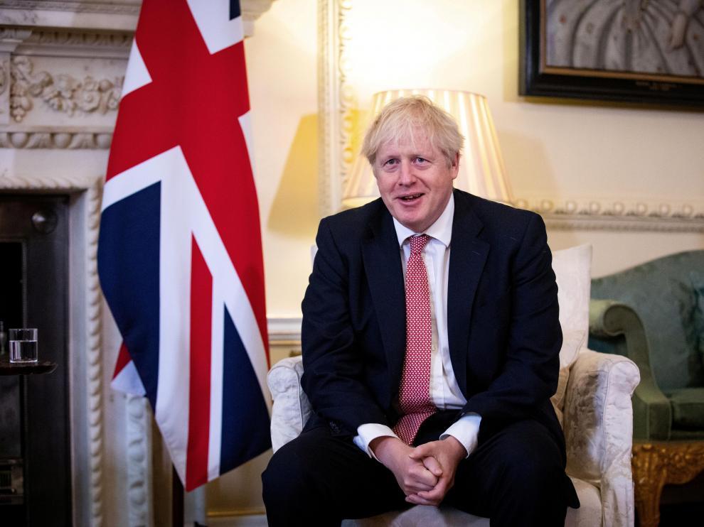 El primer ministro británico, Boris Johnson, el viernes en Londres.