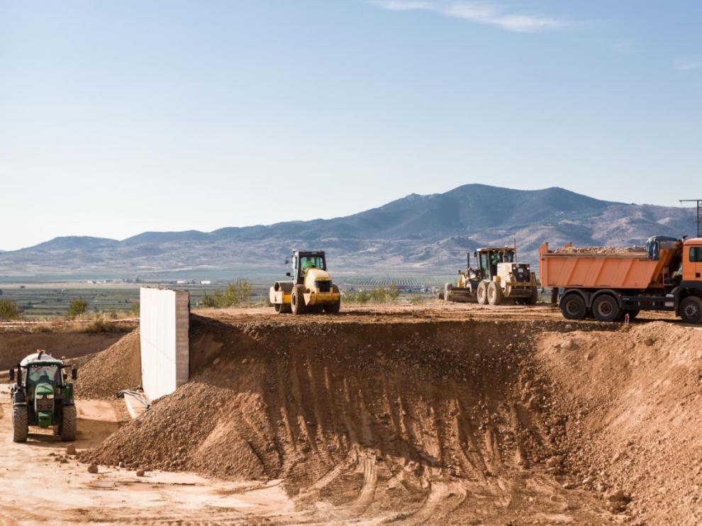 Las obras en la planta de transferencia de La Almunia comenzaron el pasado agosto