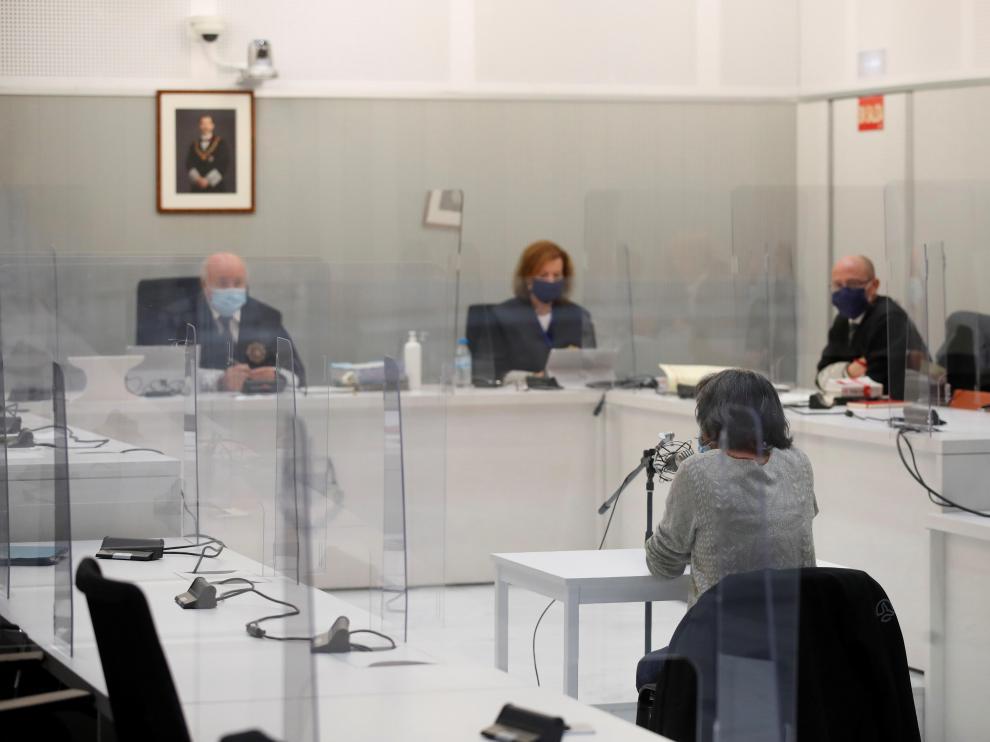 Anboto durante su juicio en la Audiencia Nacional