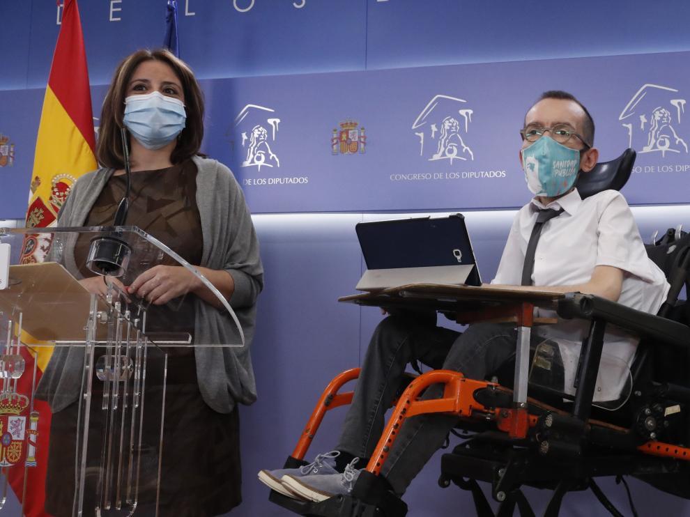 Rueda de prensa de Adriana Lastra y Pablo Echenique