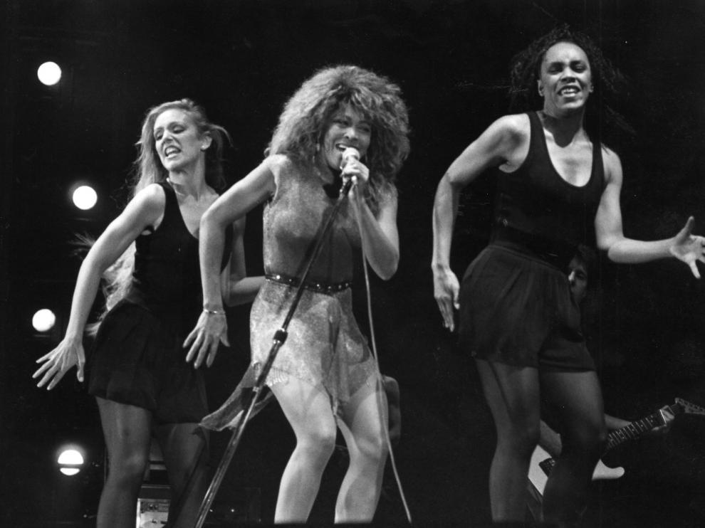 Tina Turner, en su concierto en Zaragoza en 1990.