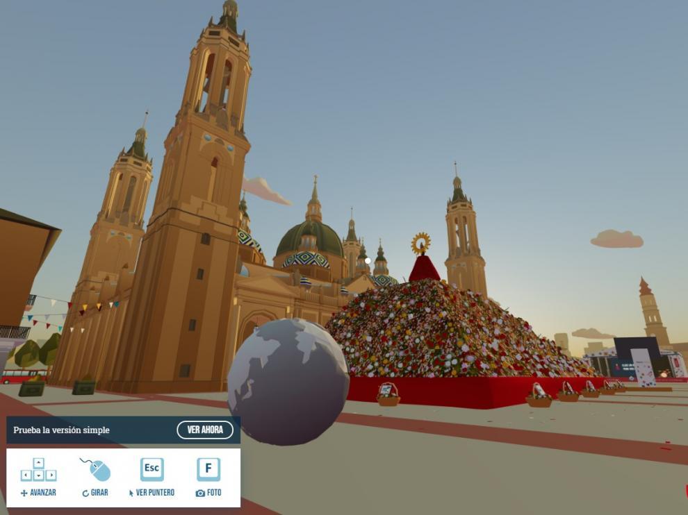 Así luce la Ofrenda virtual a la Virgen