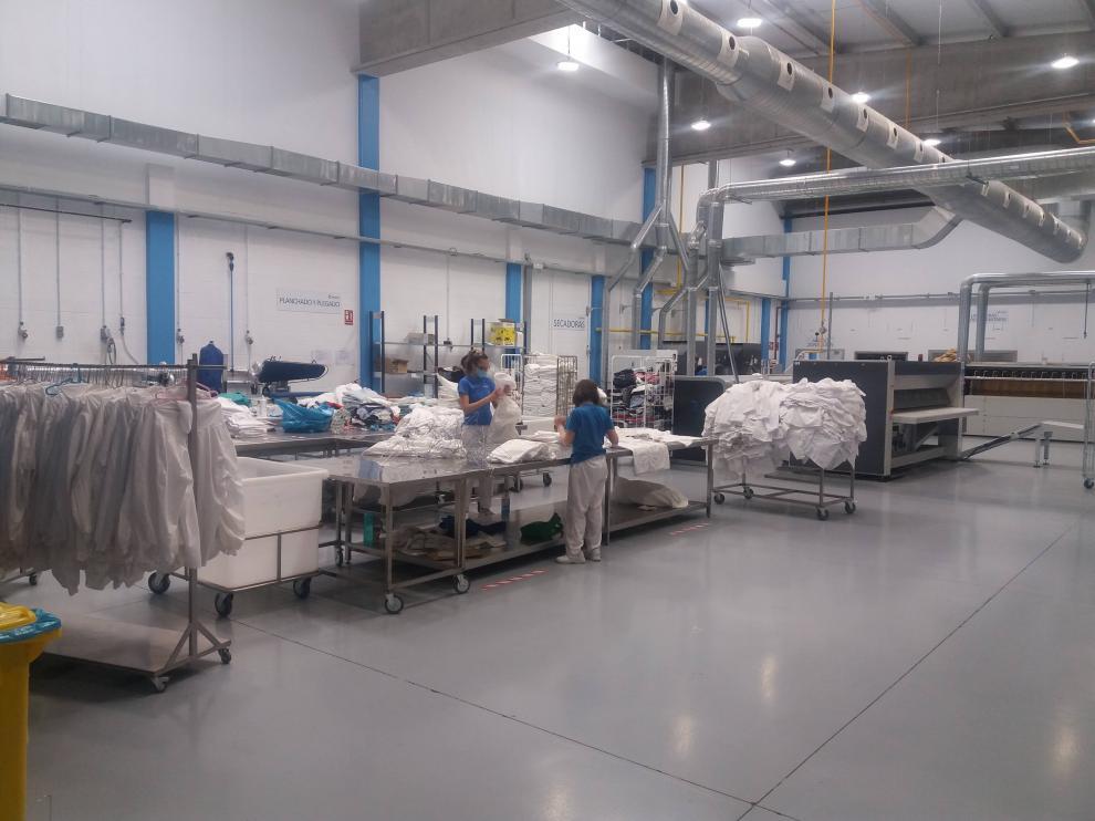Servicio de lavandería industrial de Fundación Rey Ardid.