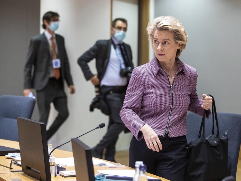 Ursula von der Leyen este jueves en Bruselas
