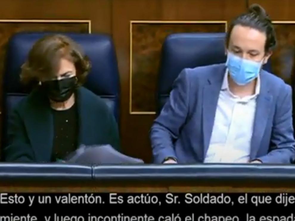 Pablo Iglesias, en la segunda sesión del debate.