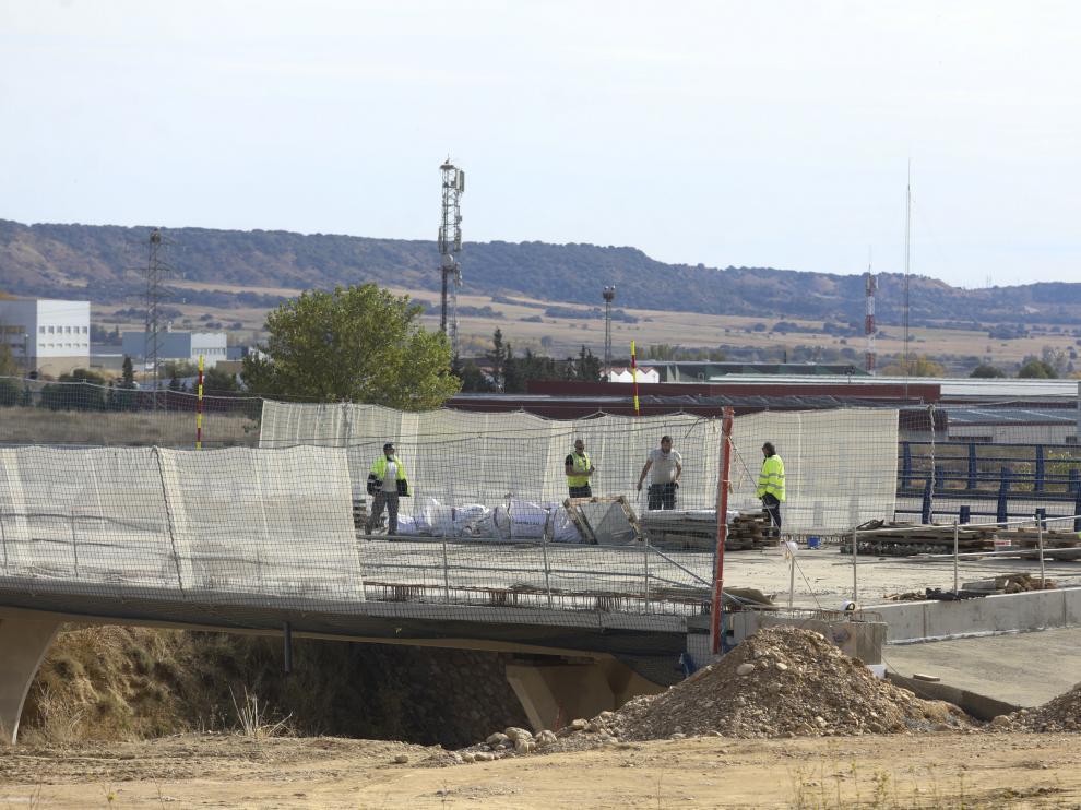 Una imagen de las obras en la autovía el pasado miércoles.