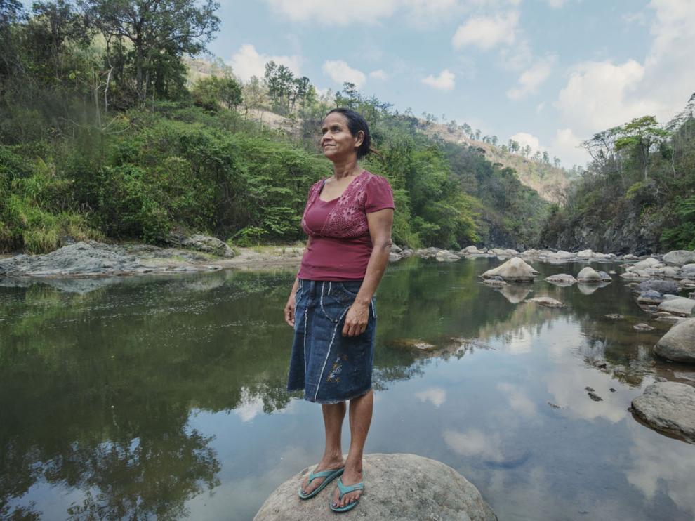 Rosalina Domínguez, una indígena lenca y activista ambientalista en Honduras