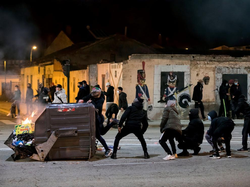 Disturbios en Burgos tras la protesta contra las restricciones