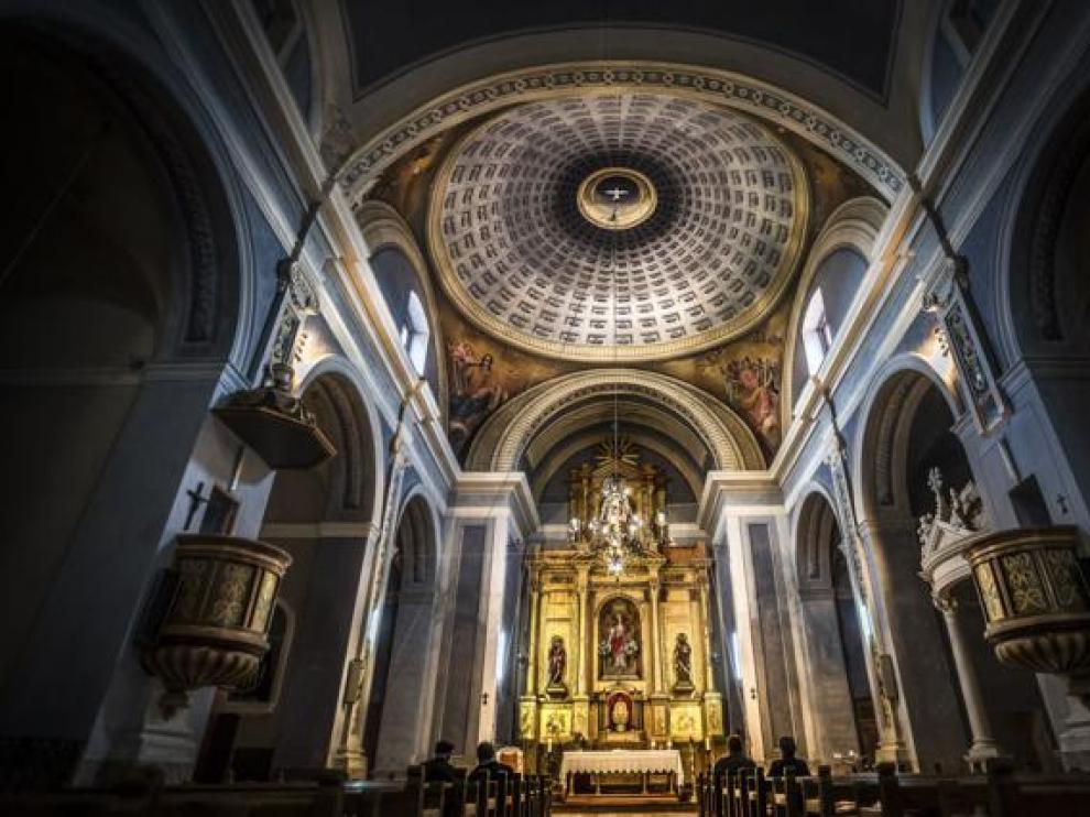 Foto de la iglesia de Mirambel ganadora del concurso de la Comarca del Maestrazgo.