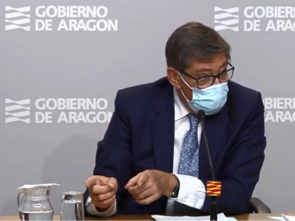 Arturio Aliaga, en rueda de prensa.