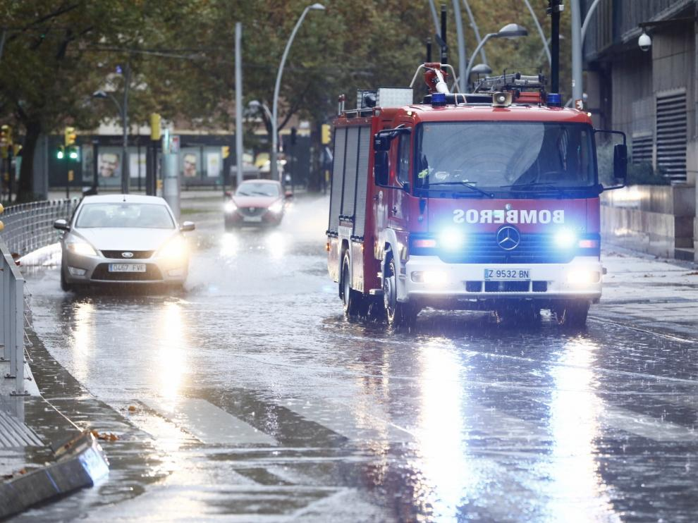 La DANA deja lluvias torrenciales en Zaragoza