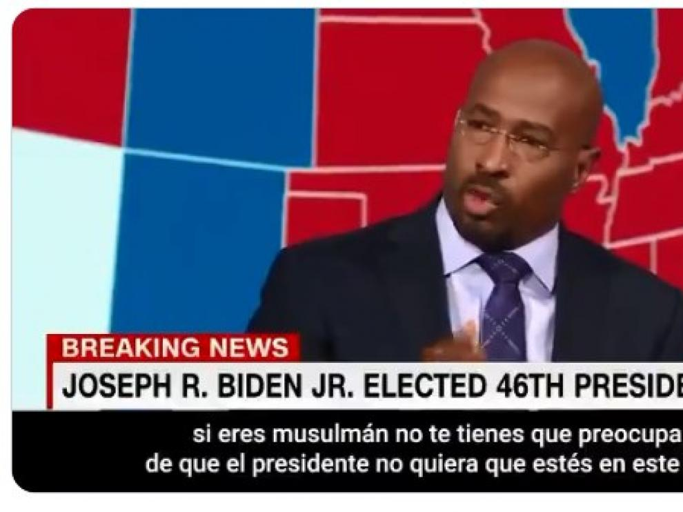 El presentador de la CNN, emocionado tras la derrota de Trump.