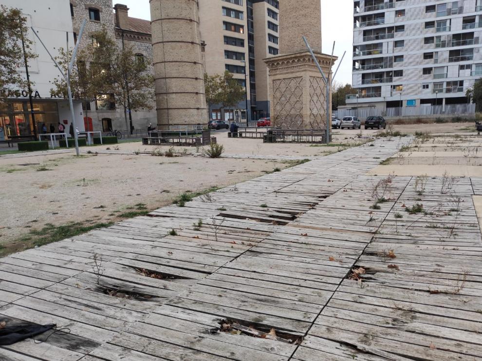 El estado de la plaza de la Azucarera.