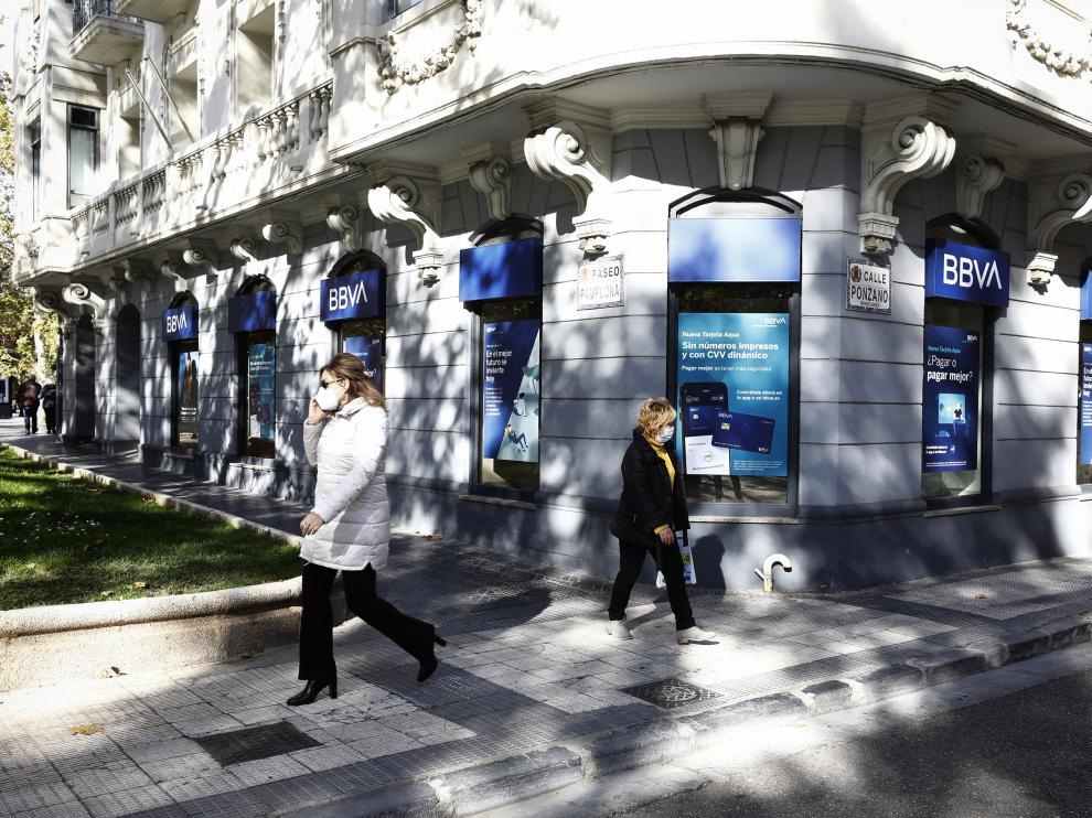 Oficina de BBVA en Zaragoza.