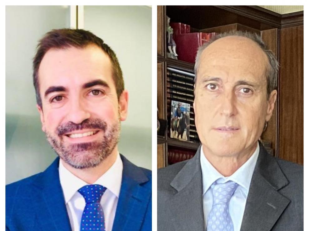 Juan Jiménez Asensio y Carlos Peralta, letrados de Zaragoza reconocidos como 'Abogados del Año' por 'Best Lawyers'.