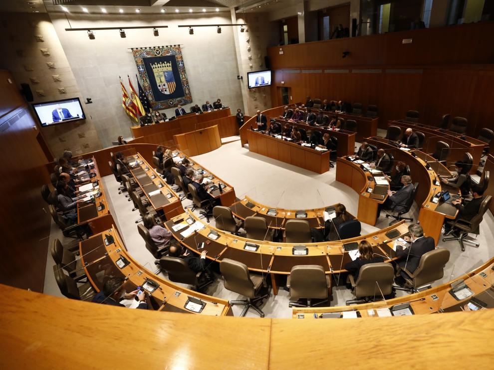 Pleno de las Cortes de Aragón