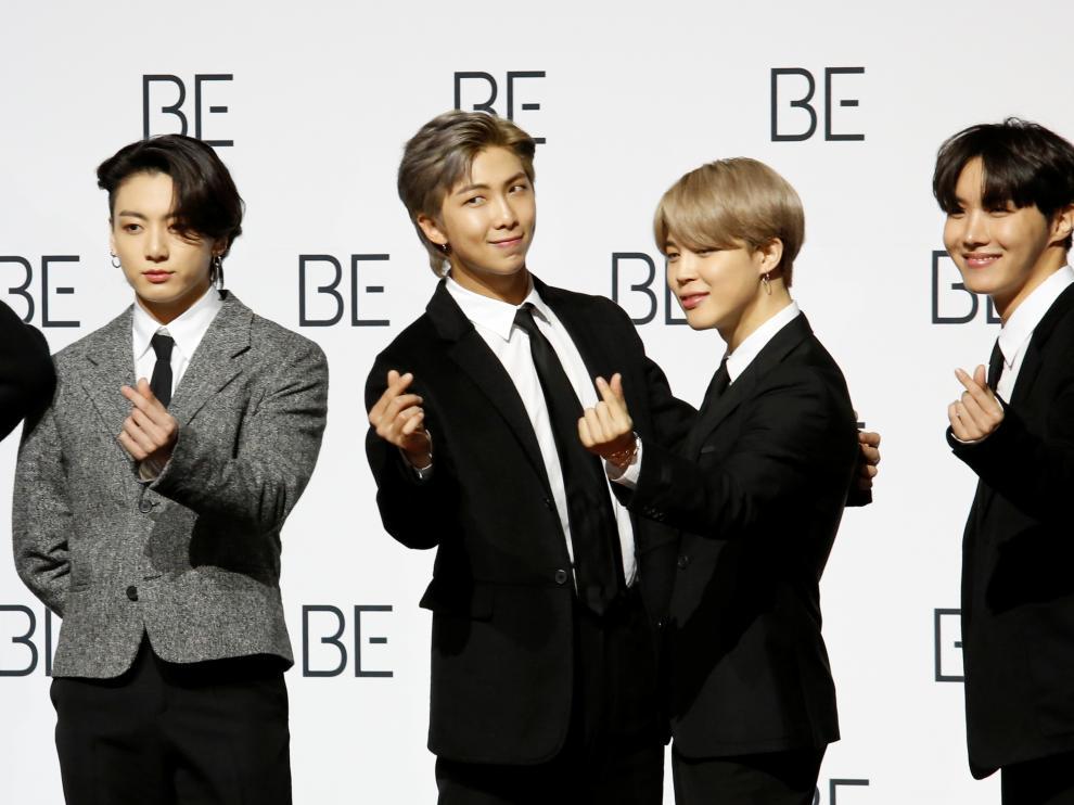 Miembros del grupo coreano BTS