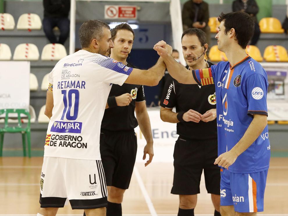 El Fútbol Emotion Zaragoza visitaba al Full Energía Zaragoza en el Pabellón de La Granja en los dieciseisavos de final de la Copa del Rey.