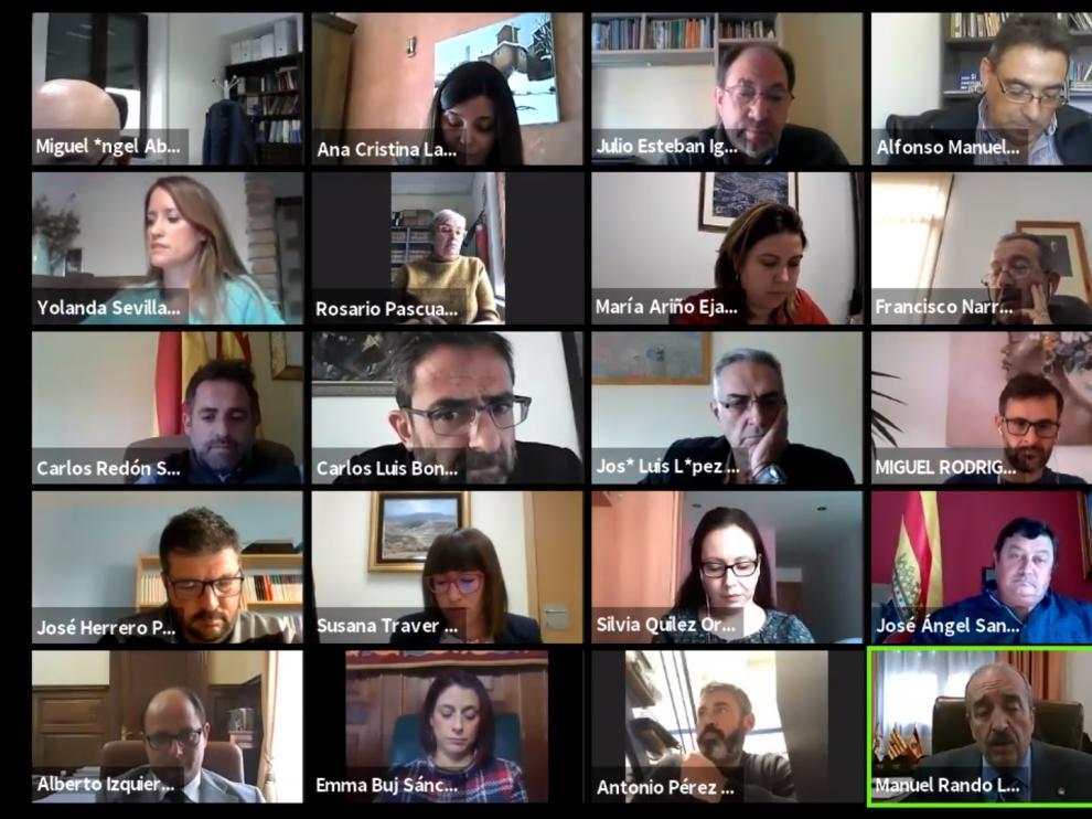 El pleno de la Diputación de Teruel se celebró de forma telemática.