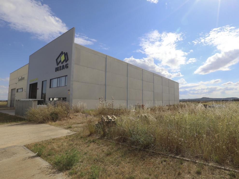 La nave de Montajes Industriales del Alto Gállego (MIAG), una de las últimas empresas en llegar a Plhus y que va ampliar sus instalaciones