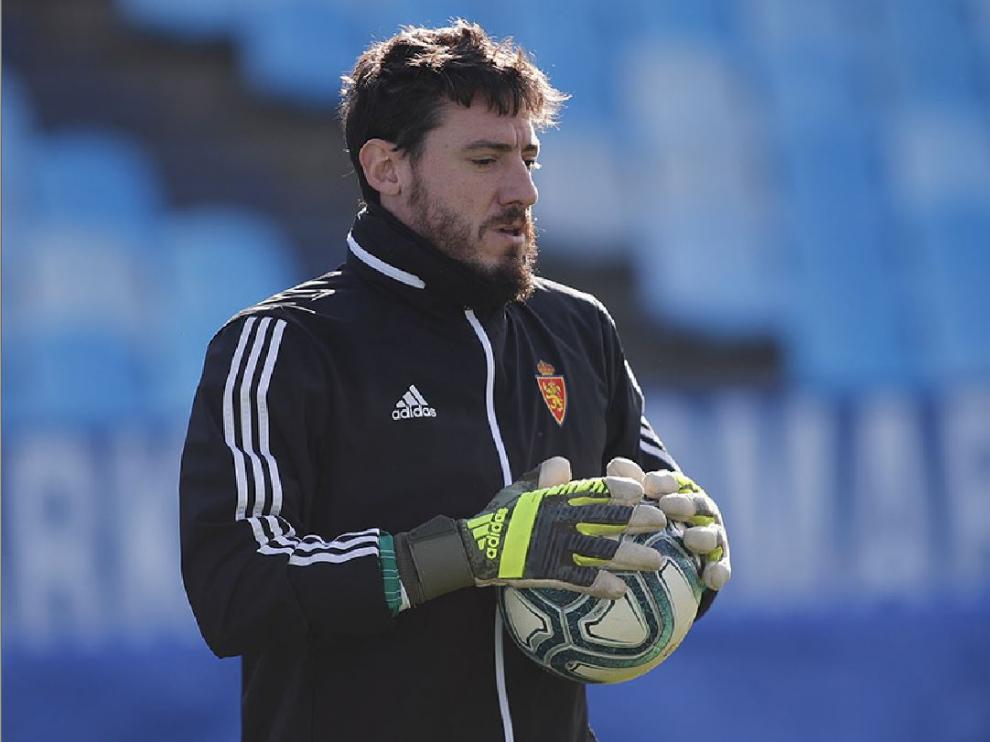 Cristian Álvarez, en pleno entrenamiento.