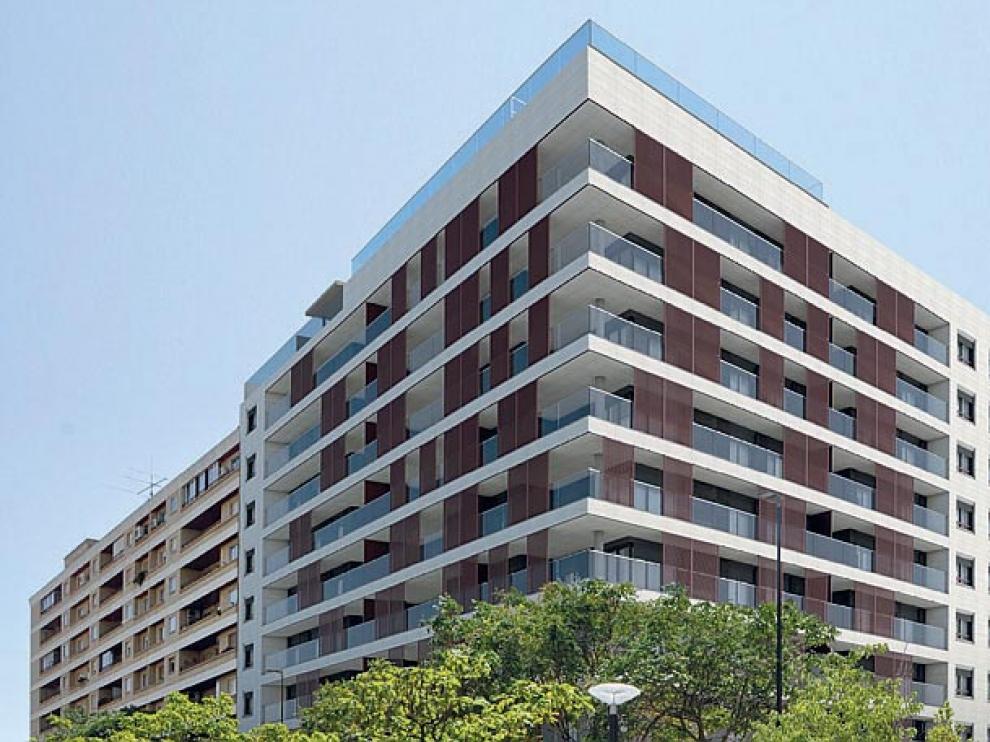 El edificio Alierta 100 tiene grandes terrazas.