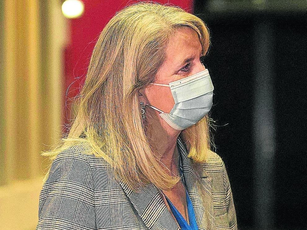 Ana Isabel Elduque, tras anunciarse que va a la segunda vuelta electoral.