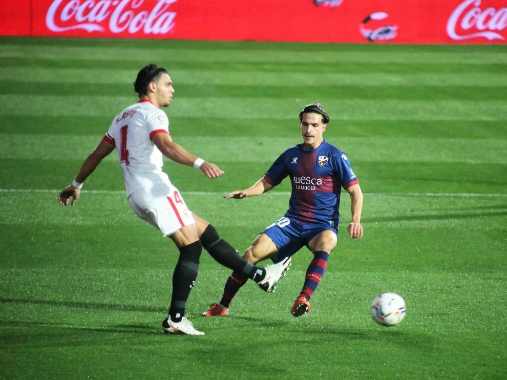 Partido SD Huesca - Sevilla de la Jornada 11 de LaLiga Santander.