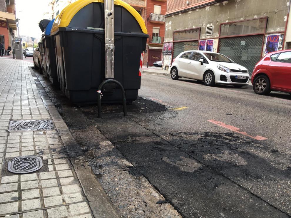 Lugar de la quema en la calle Burgos