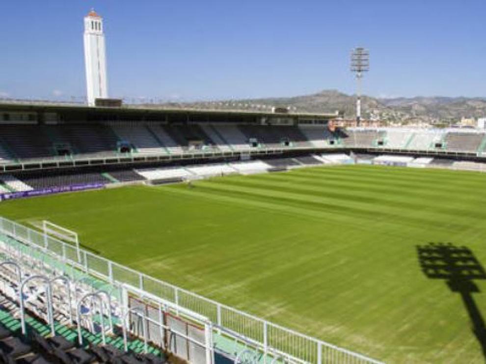 Estadio de Castalia, en Castellón, donde juega esta noche el Real Zaragoza.