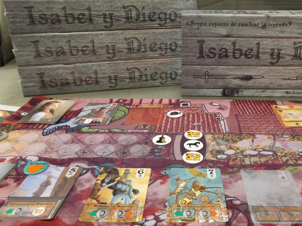 Juego de mesa 'Isabel y Diego'.