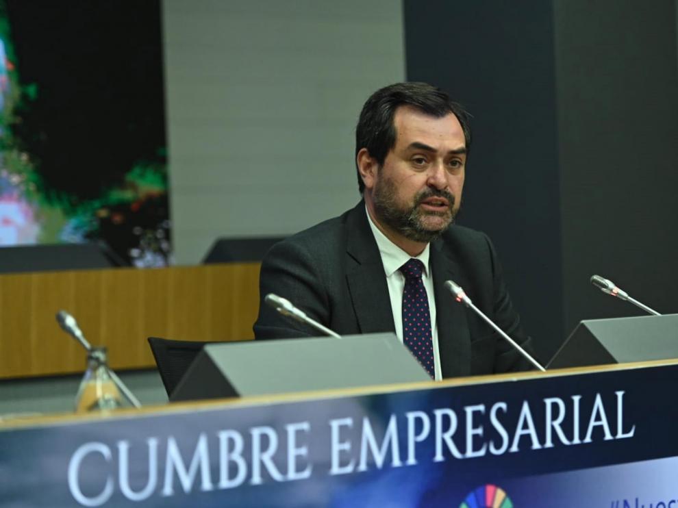 Ricardo Mur, presidente de CEOE Aragón, en una imagen de archivo.