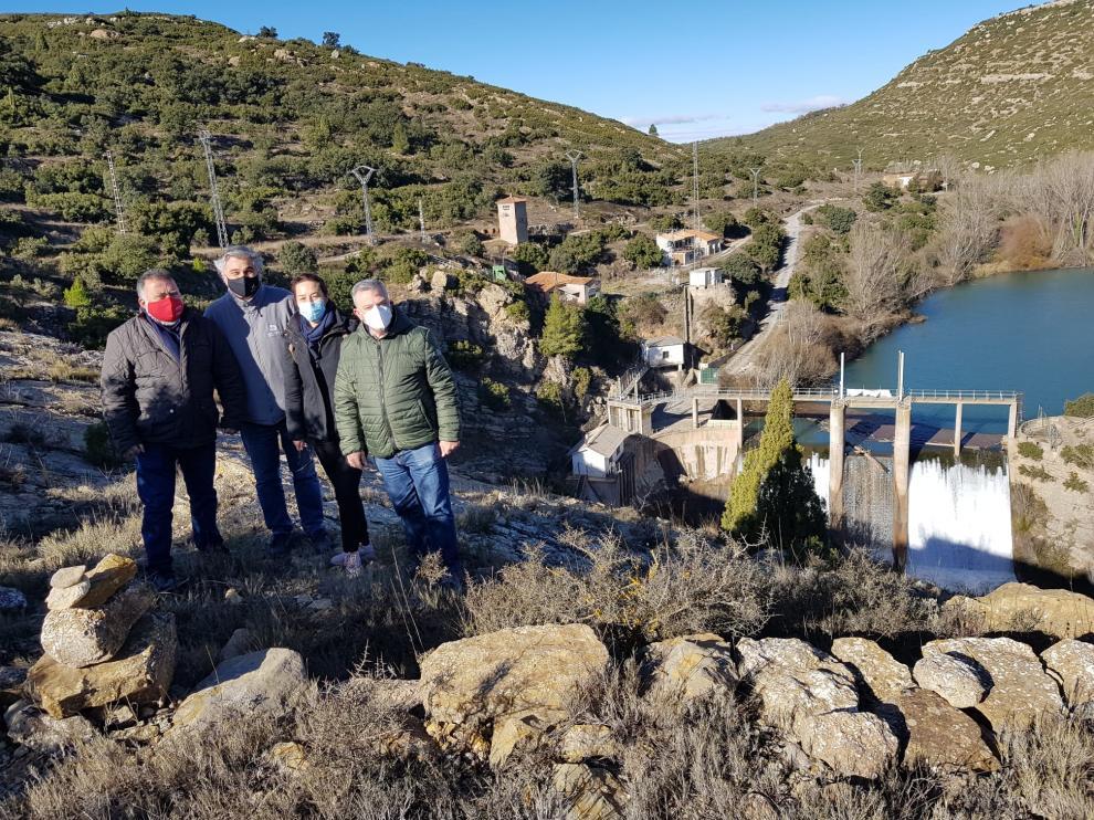 Herminio Sancho, durante su visita a la presa de Los Toranes.