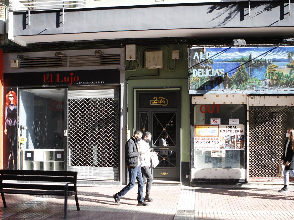Situación del comercio de la calle Delicias en la pandemia.