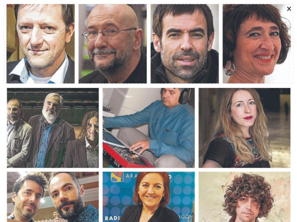 Una imagen de los galardonados en los Premios 'Arte y Letras' 2020.