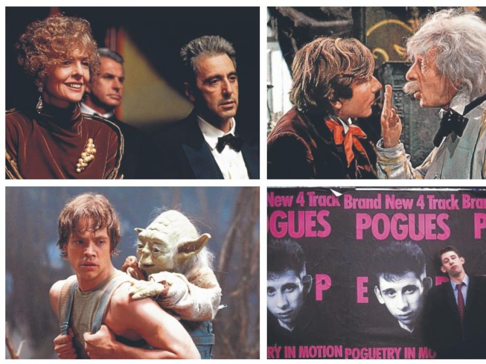 De izquierda a derecha: 'El Padrino, epílogo: la muerte de Michael Corleone', 'El baile de los vampiros', 'El Imperio contraataca' y 'Crock of Gold'.