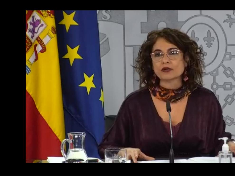 María Jesús Montero rueda de prensa 9 de diciembre