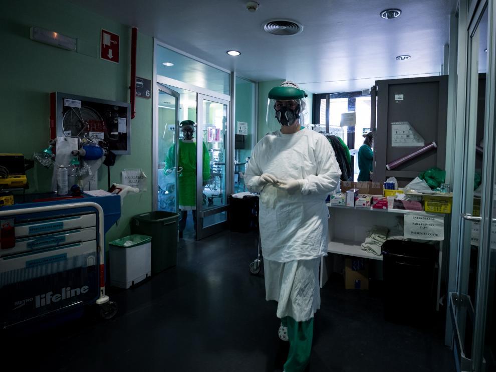 Las ucis de los hospitales aragoneses siguen teniendo un alto porcentaje de ocupación con pacientes covid.