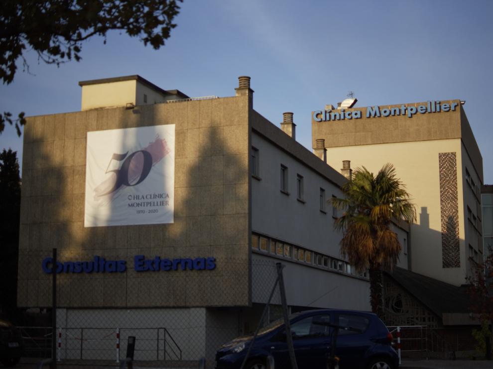 Las instalaciones de la Clínica Montpellier, en Zaragoza.