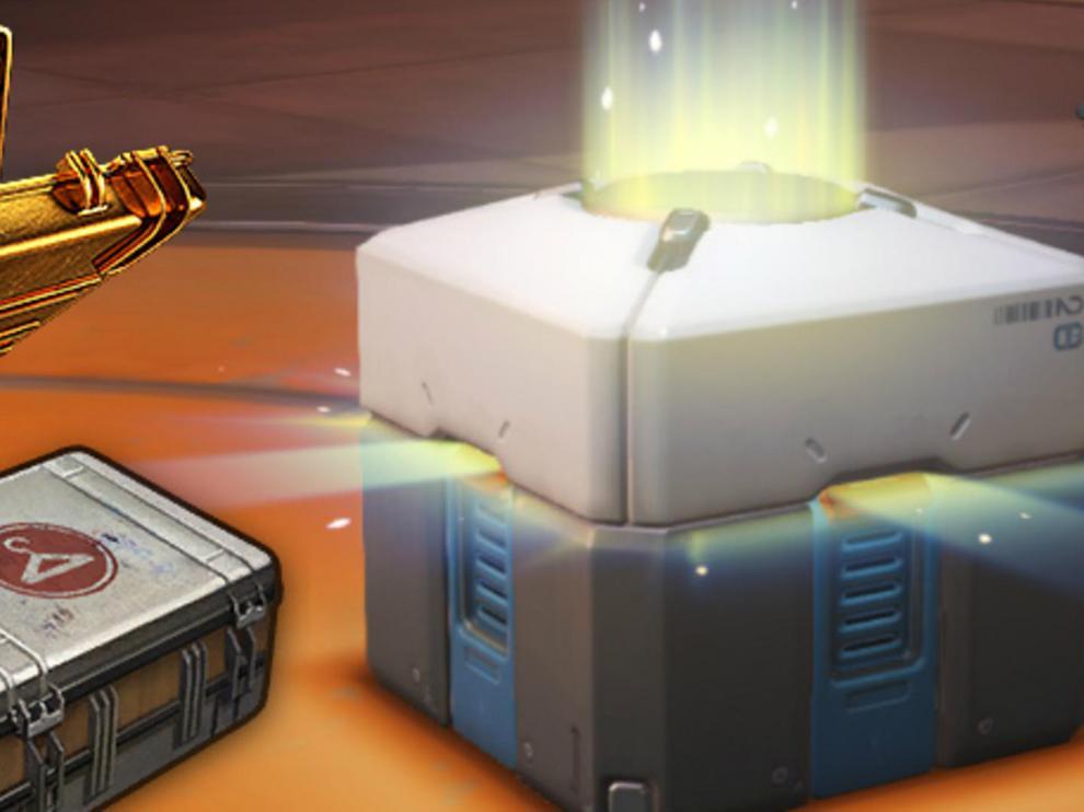 Una caja de recompensa de un videojuego.