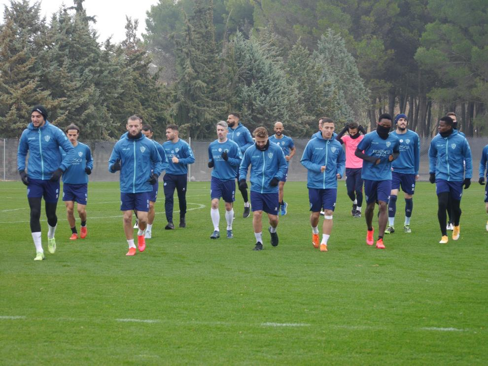 La SD Huesca regreso este sábado a los entrenamientos tras la derrota con el Athletic.