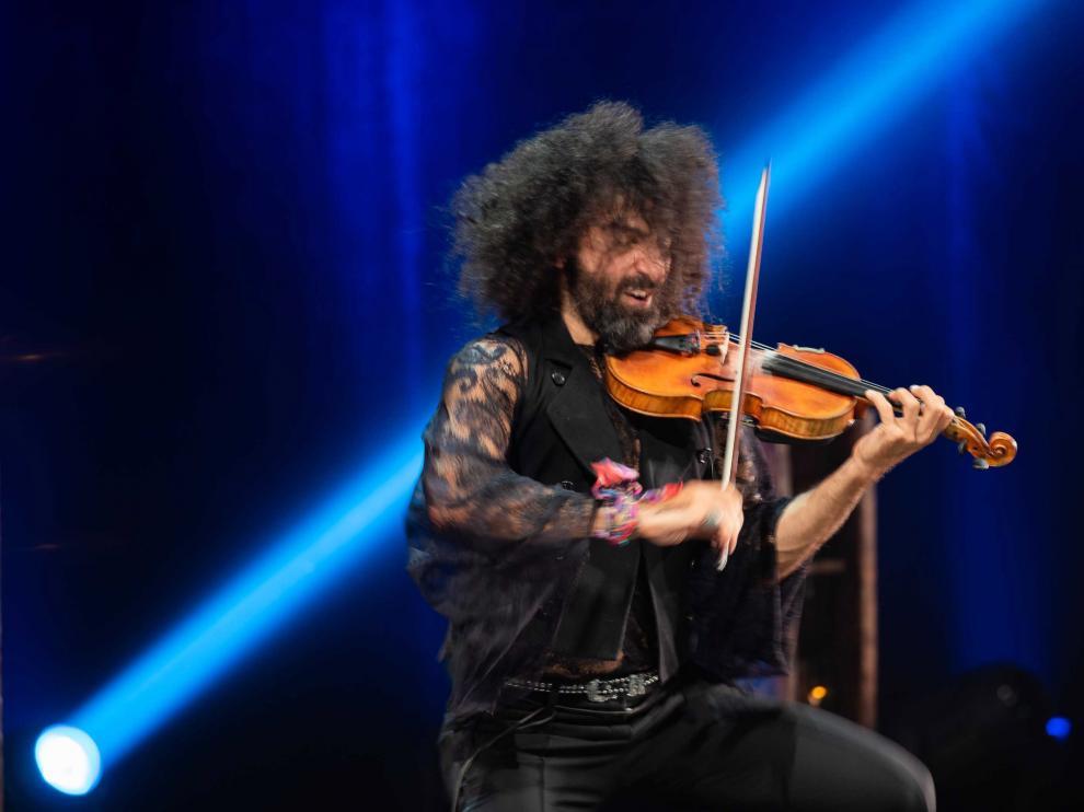 Ara Malikian, durante uno de los dos conciertos que ofreció en septiembre en la sala Mozart del Auditorio.