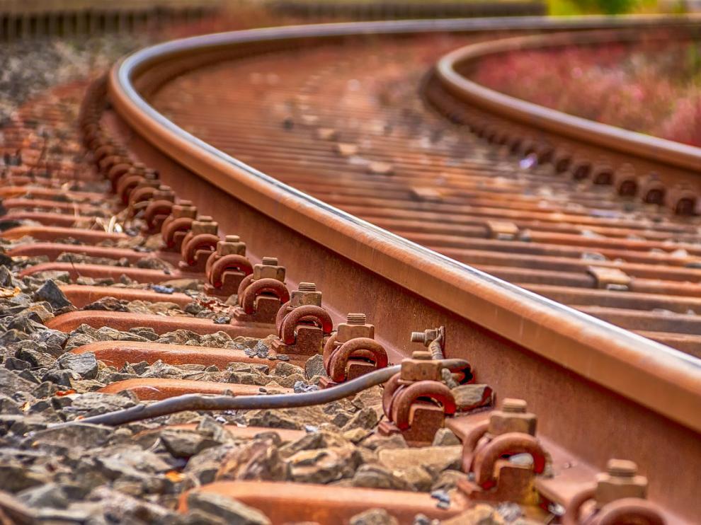 Foto de archivo de una vía de tren
