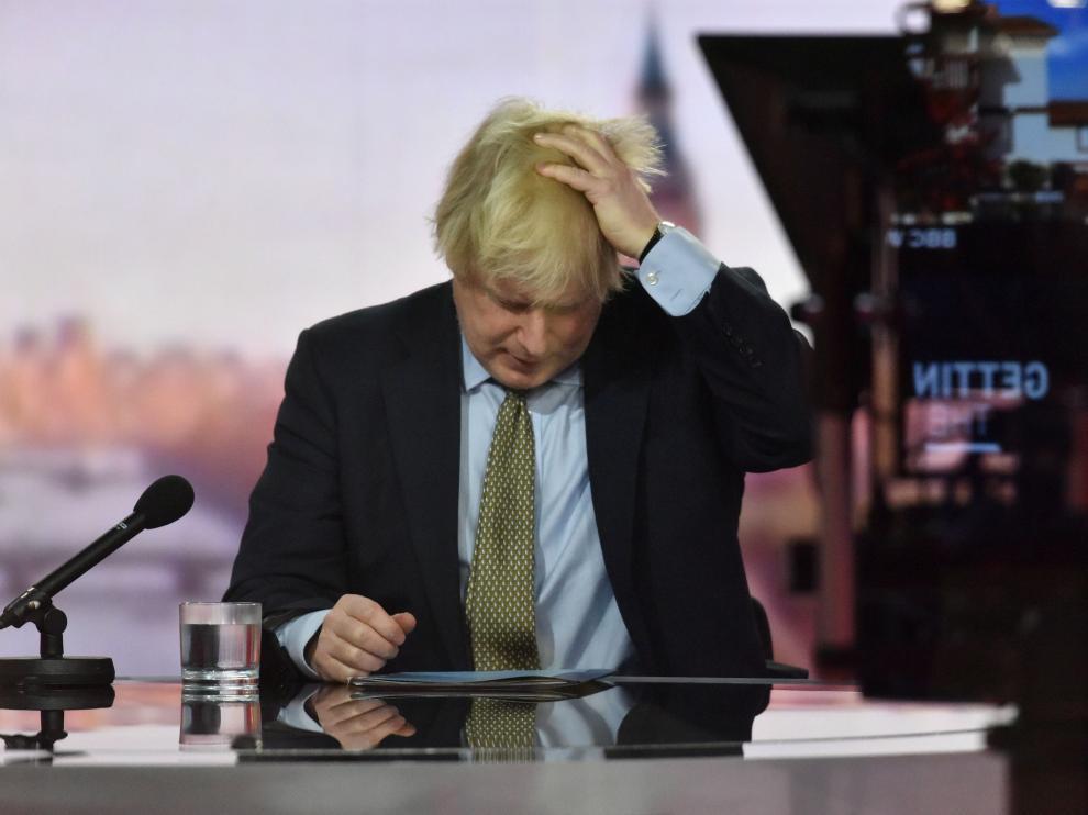 Boris Johnson, durante una entrevista en la BBC