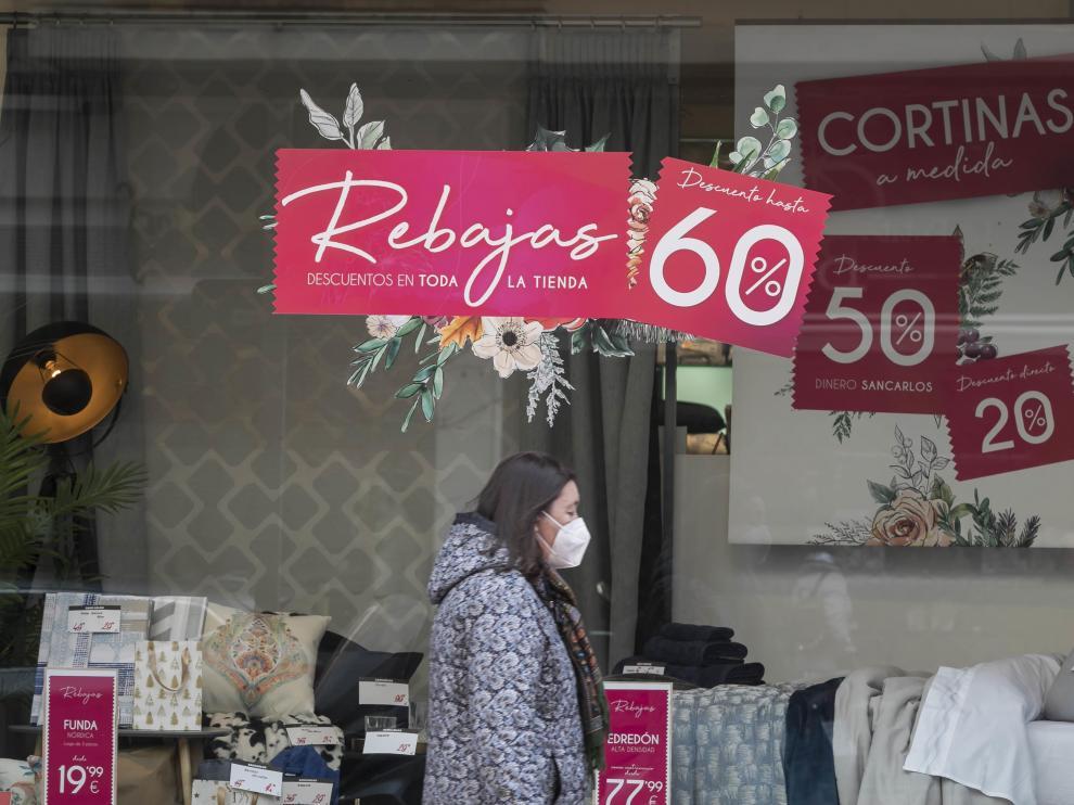 Jornada de compras en Zaragoza.