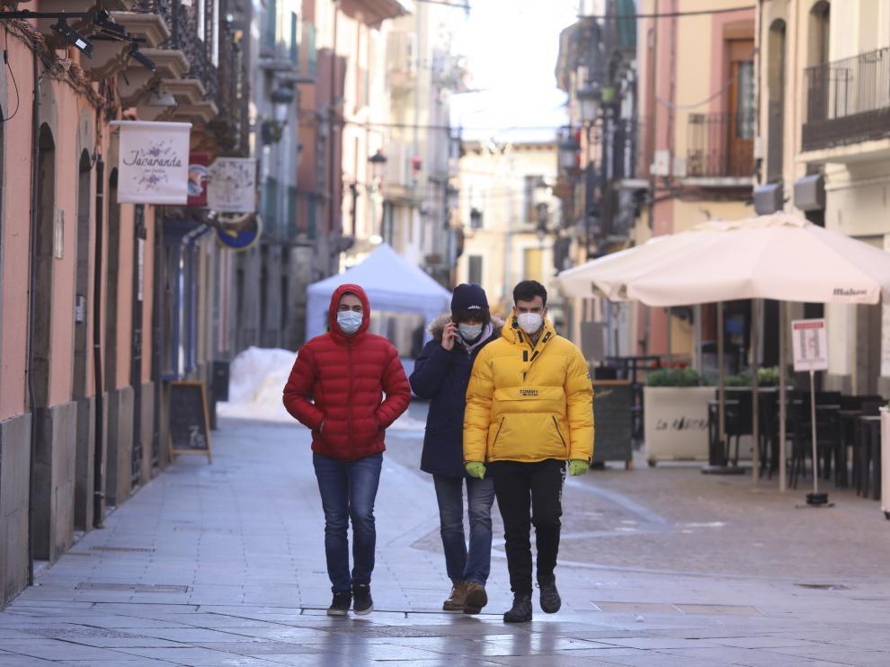 Ambiente en las calles de Jaca / 03-01-2021 /Foto Rafael Gobantes[[[FOTOGRAFOS]]]
