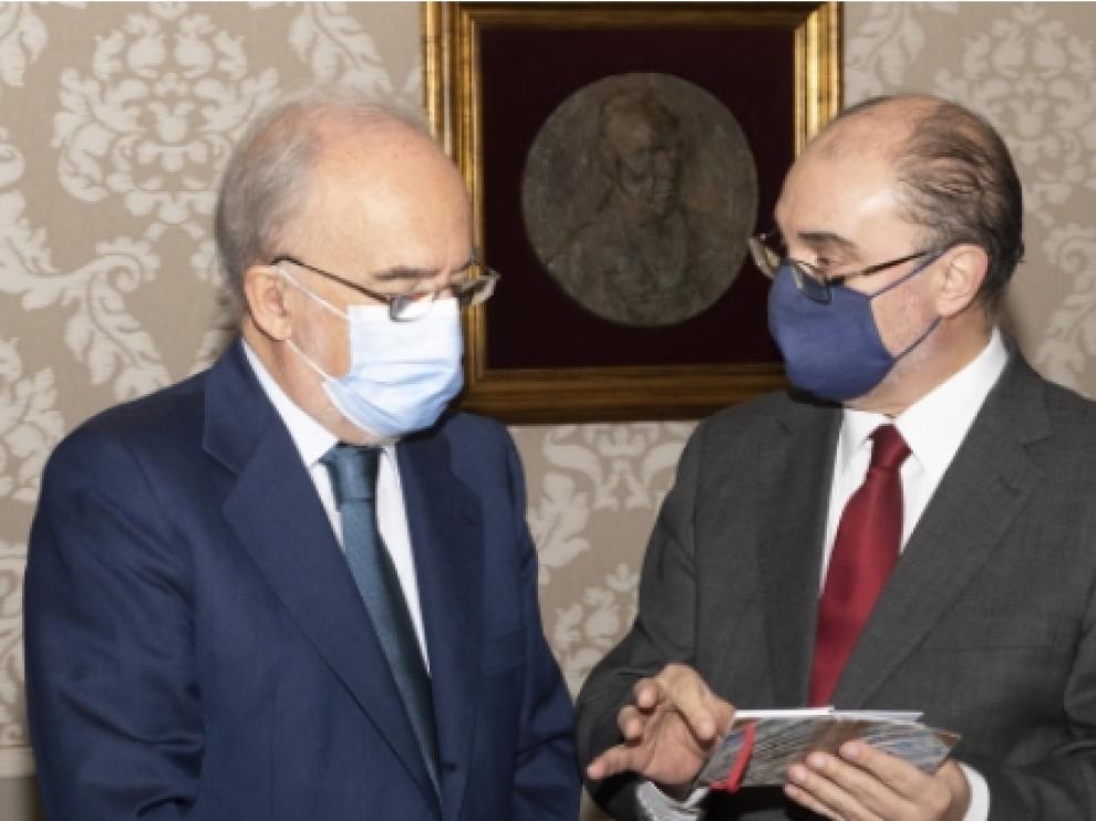 Firma del protocolo de colaboración del Gobierno de Aragón y la Fundación Pro RAE para el desarrollo de actividades de interés general