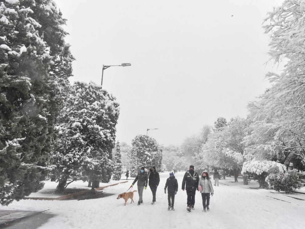nieve en Zaragoza